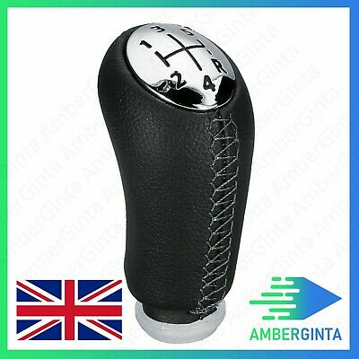 5 Speed Gear Shift Knob PU Leather For RENAULT Laguna Megane 2 Clio 3 03-09 UK