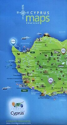 CYPRUS Tourist Map - Free UK Postage