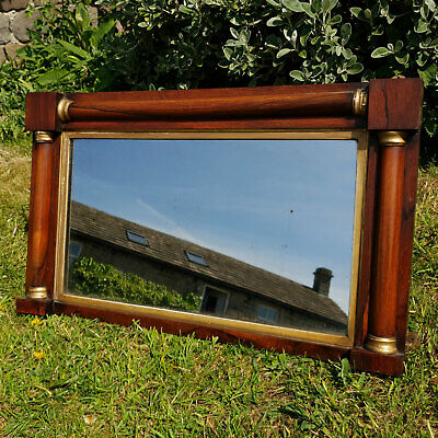 Regency Rosewood Gilt Frame Overmantle Mirror C1820