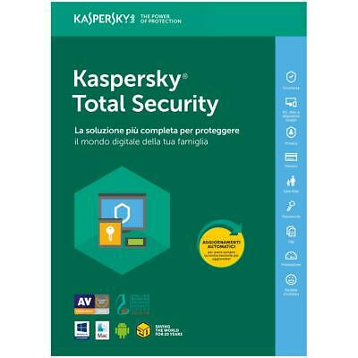 Kaspersky Total Security 2019 2020 3 PC Device 1 Anno Originale - Fatturabile