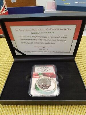 Sherlock Holmes Signed UK 2019 50p BUNC cased Coin Capsule Edition 250 Only Coa%