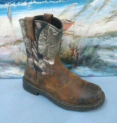 f41d039cca5 ARIAT YOUTH HERITAGE Sierra Leather Western Boots Boy 11.5 M/Brown ...