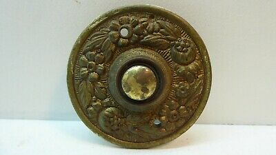 Antique Vintage Brass Door Bell Press Button - Original