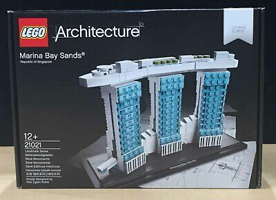 LEGO Marina Bay Sands Tile Custom Black 1x8 with Text Pattern Architecture 21021