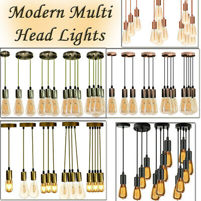 Vintage Retro Multiple Ajustable DIY Ceiling Lamp Pendant Lighting Edison E27 UK