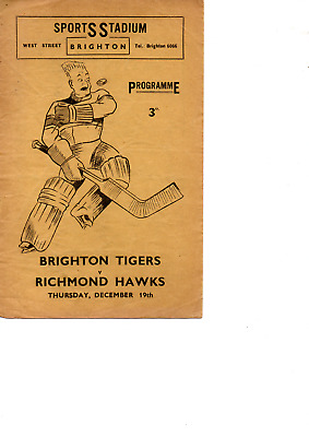 BRIGHTON TIGERS v RICHMOND HAWKS 19/12/1935
