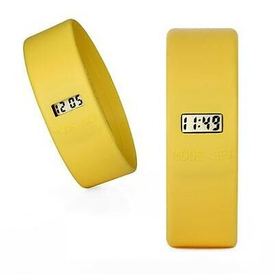Too Late Uhr - Modeuhr von Too2Late - Gelb - Large L - Yellow Watch TooLate