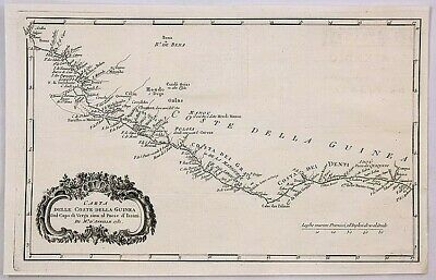 D'ANVILLE, J. (1781)copperplate map of Sierra Leone and Liberia
