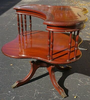 "Antique "" Elegance of Leonardo Furniture NY "" Regency Neoclassical 2 Tier Table"
