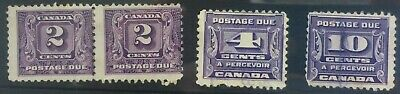 CANADA 1930 postage due selection