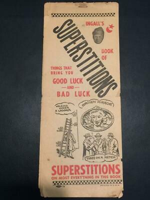 Rare 1930'S Professor Harry Ingalls Book Of Superstitions Fortune Good Luck!!!