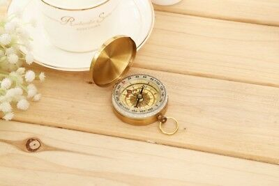 New Pocket Compass Vintage Brass Hiking Camping Watch Noctilucent Night Nice