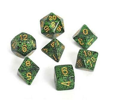 Speckled Polyhedral 7 Set Golden Recon Dice New Chessex 25335