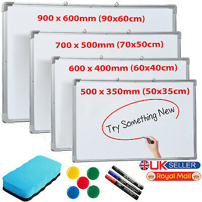 Large Small Magnetic Dry Wipe Drawing Whiteboard Office School Home Notice Board