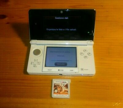 Console Nintendo 3Ds Bianco+1 Gioco Nintendogs Cats - No Game Boy Color Switch
