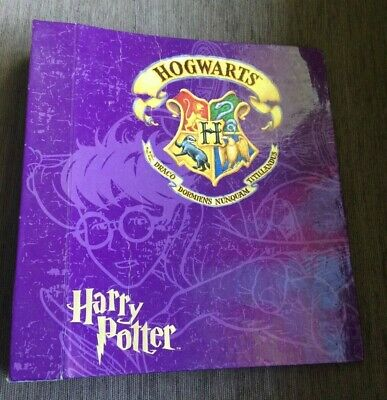 Vintage Original Harry Potter Ring Binder Folder/Writing Pad Hogwarts Purple