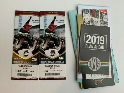 2019 Indy 500 Tickets (2 Tickets) (Indianapolis) Paddock Box 52, Row P
