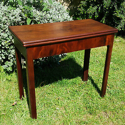George III Mahogany Inlaid Console Fold-Over Games Card Table C1790 (Georgian)