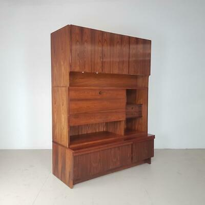 Vintage 1960S Rosewood Wall Unit By Robert Heritage For Archie Shine #2667