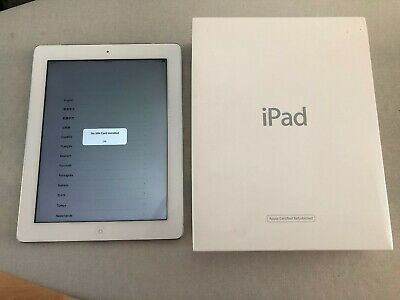Ipad 4th Gen. 16gb, 9.7in, Wi-fi and cellular, with original box. A1460. white