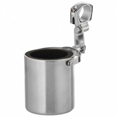 Diamond Plate Stainless Steel Motorcycle Cup Holder
