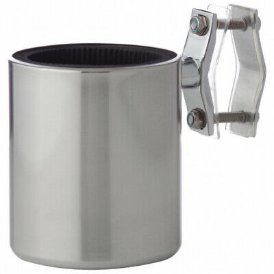 Diamond Plate Universal Stainless Steel Motorcycle Cup Holder