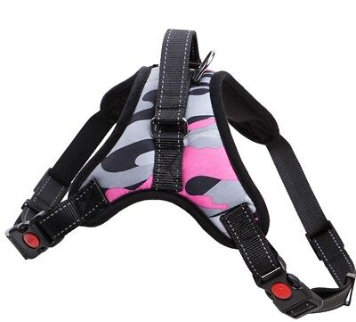 Pink No Pull Adjustable Dog Pet Vest Harness Quality Nylon or Leash BIG S M L XL