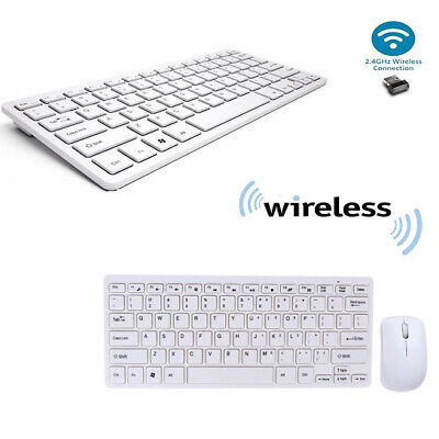 KIT TASTIERA E MOUSE MINI WIFI WIRELESS PER PC 2.4 GHz KEYBOARD USB SENZA FILI