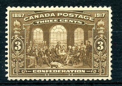 Weeda Canada 135 F/VF MNH 3c brown 1917 issue, perf thin on front CV $125