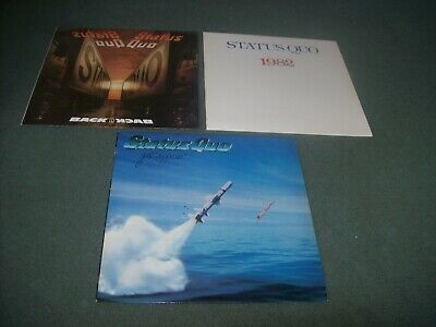 Job lot 6 Status Quo LPs Whatever You Want, Never Too Late, Just Supposin' etc.