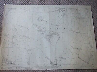 "Ordnance Survey Map of 1904 - MILVERTON - 25"" to 1 Mile - OLANDS - BINDON - 1934"