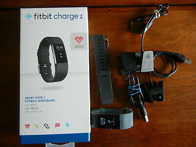 Fitbit Charge 2 Heart Rate Monitor Fitness Tracker Wristband Navy Large,extra's