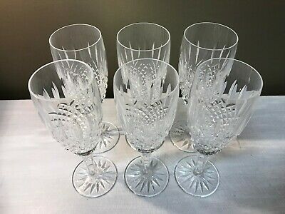 """Set of 6 Waterford Crystal """"Ballybay"""" Champagne Flutes ~7.5""""h"""
