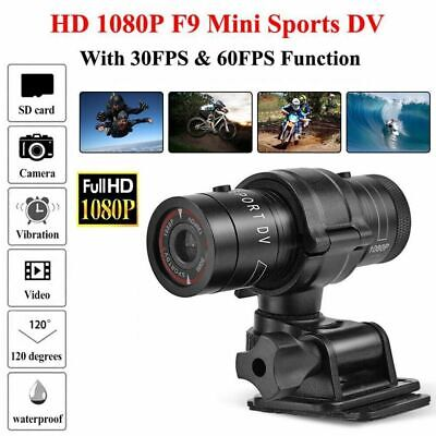 F9 HD1080P DV Mini Waterproof Sport Camera Helmet Bike Action DVR Cam Video Xmas