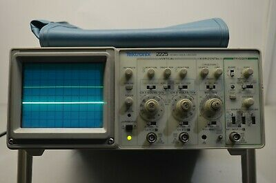Tektronix 2225 dual-channel 2-ch 50mhz analog oscilloscope two probes included
