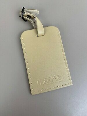 """2019 Rimowa Luggage Leather Tag 100% Authentic 3""""x 4"""" (K)"""