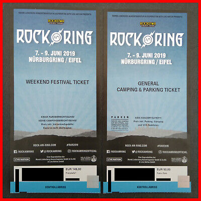 ** Rock am Ring 2019 Weekend Ticket und General Camping & Parking Ticket **