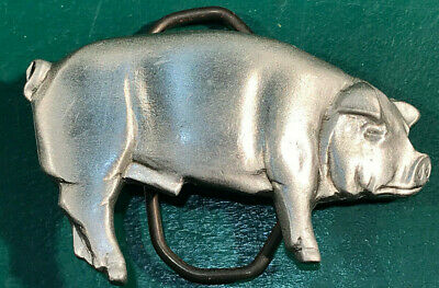 1981 Pewter Pig Belt Buckle Great American Buckle Co. (#2761-9)