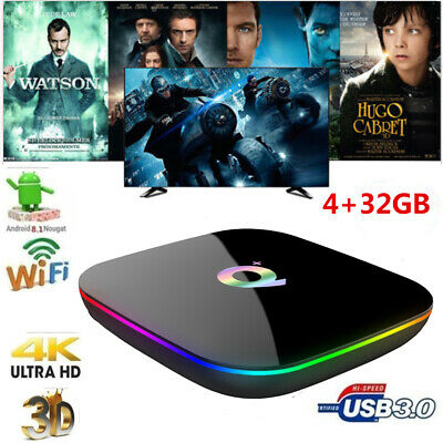 SMART TV BOX Q-PLUS ANDROID PIE 9.0 4GB RAM 32GB ROM 6K Media Player