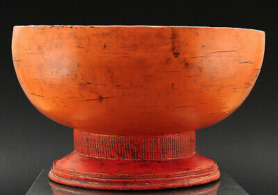 Lacquerware, large offering stand, Shan States, Burma (Myanmar), early 20th c.
