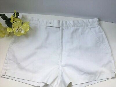 Vintage Jockey Men's White Tennis Shorts Size 36