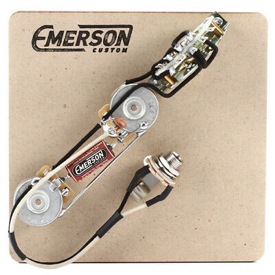 Emerson Custom 3-way Prewired Kit Fender Telecaster Guitar 250k Pots Capacitor