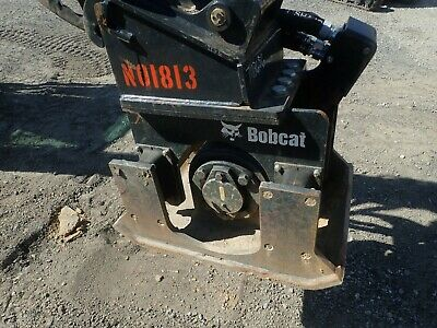 2018 Bobcat Pcf34 Plate Compactor For Mini Excavators, X-Change Coupler, Low Use