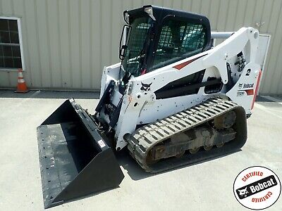 BOBCAT T650 TRACK Skid Steer Loader Joystick Controls Wide Track