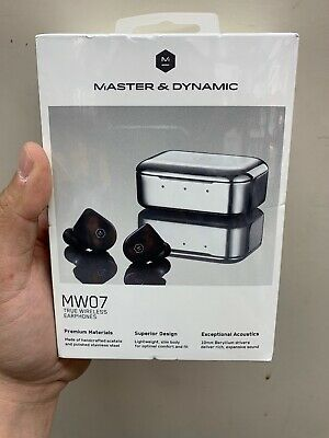 Master & Dynamic - MW07 True Wireless In-Ear Headphones - Matte Black - SEALED