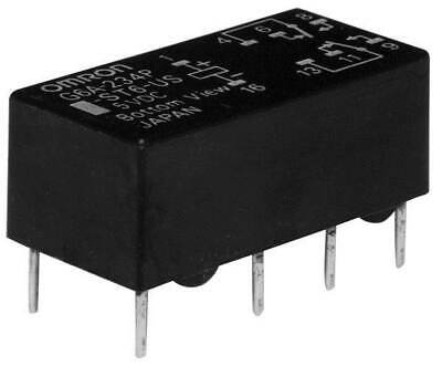 Omron Low Signal Relays - PCB ThruHole Sealed 1A DPDT 5VDC 200mW