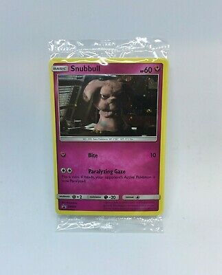 Pokemon Detective Pikachu Snubbull Holo Promo Card SM200 New GameStop Exclusive