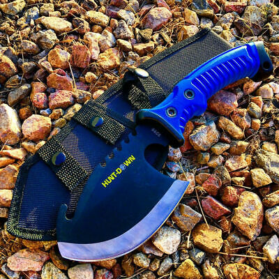 "11"" FULL TANG Survival Hunting Fixed Blade Tactical Axe Hatchet Camping Knife"