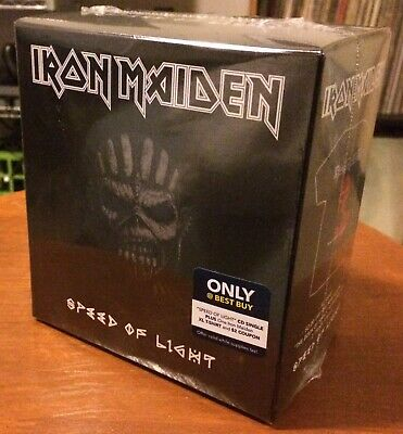 "EXCLUSIVE Iron Maiden Single ""Speed of Light"" CD + T-Shirt NEW & Sealed!!"