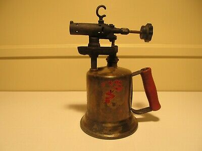 VINTAGE ANTIQUE COLLECTABLE BRASS BLOW TORCH CLAYTON AND LAMBERT Co. ARTS CRAFTS